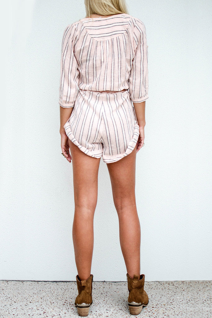 Spell Island Boho Playsuit Coral - Call Me The Breeze - 2