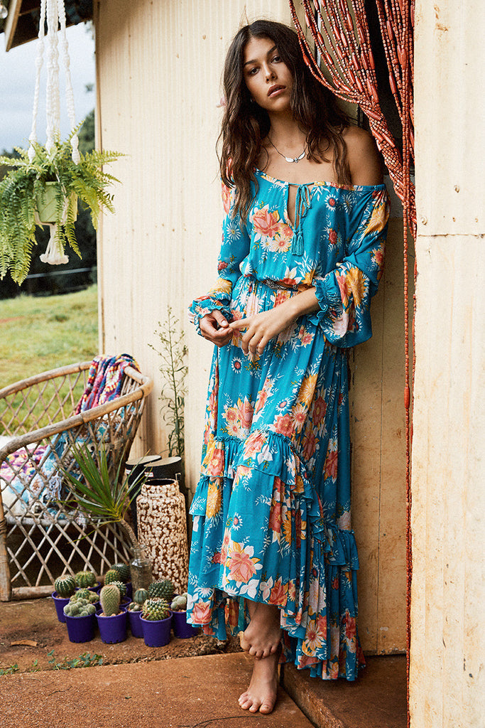 Spell Jagger Dress Teal - Call Me The Breeze - 2