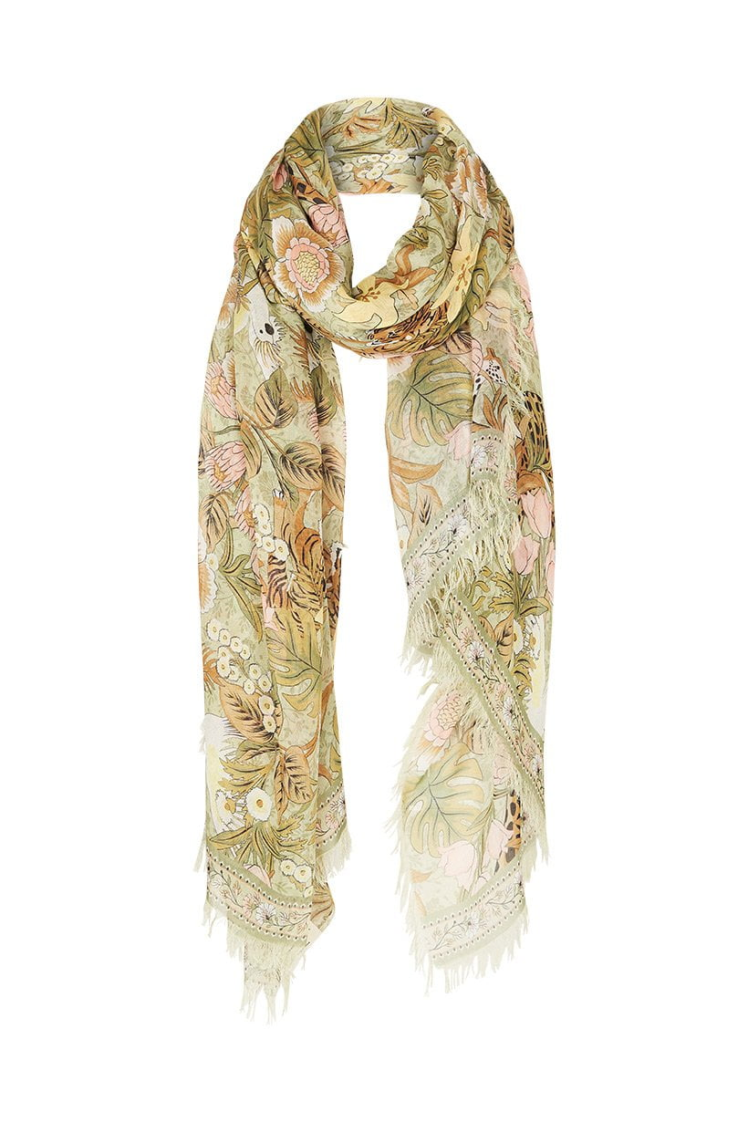 Spell Jungle Travel Scarf Khaki