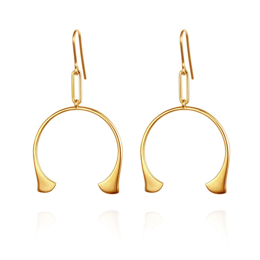 Temple Of The Sun Katya Earrings Gold