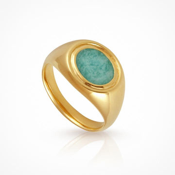 Temple of the Sun Kosmos Ring Amazonite Gold