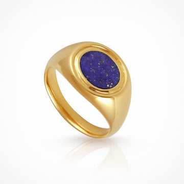 Temple of the Sun Kosmos Ring Lapis Gold