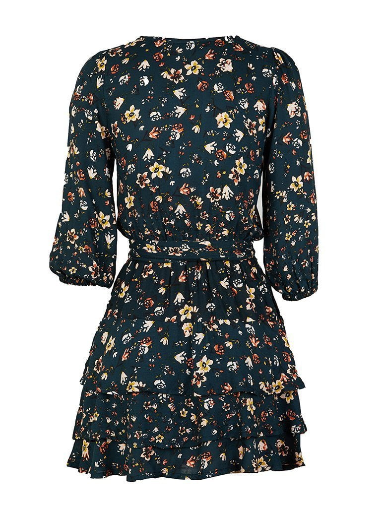 Kivari Baily Floral Play Dress Black