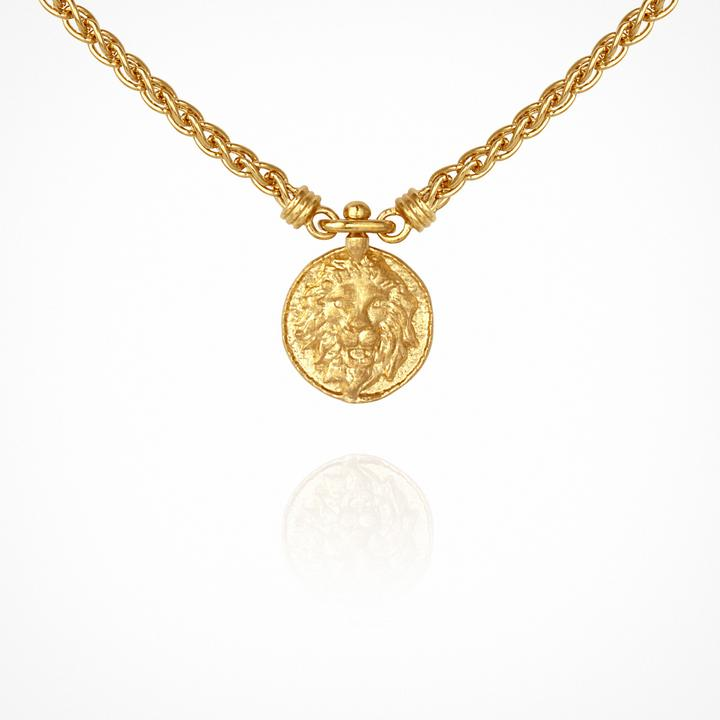 Temple Of The Sun Leon Necklace Gold