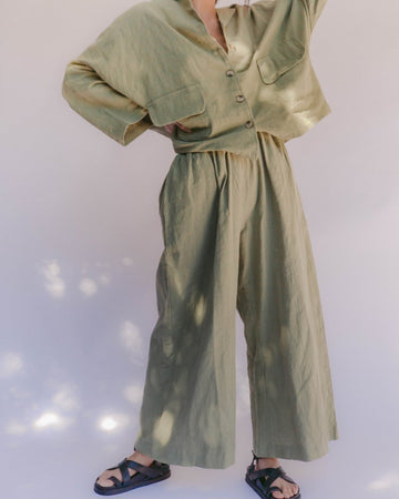 Lullaby Club Women's Lounge Pant Olive