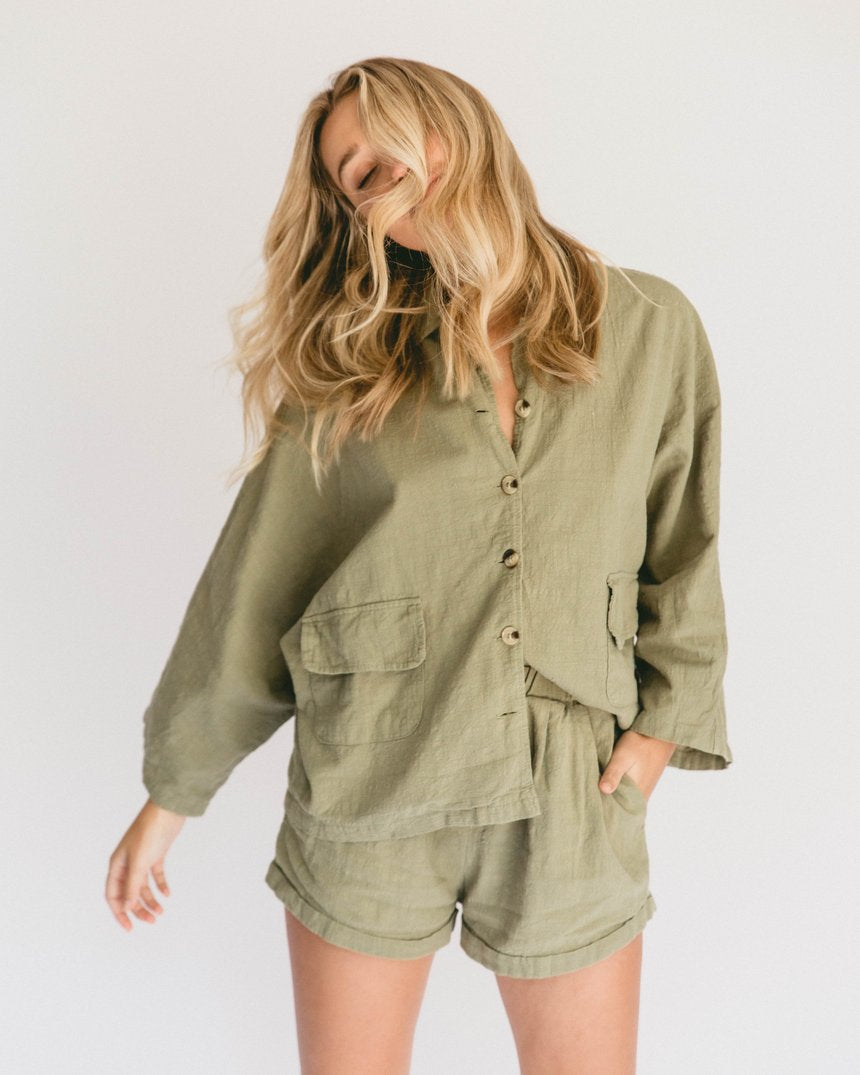 Lullaby Club Women's Lounge Set Olive