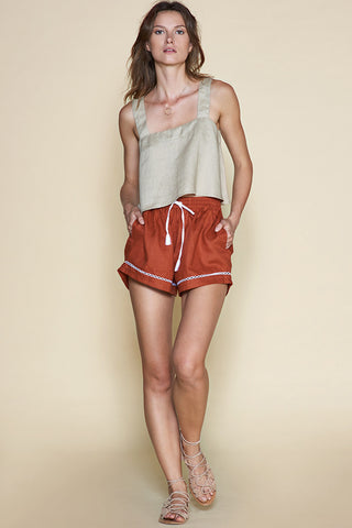 Sancia Surene Mini Shorts Rust