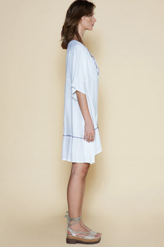 Sancia D'azur Dress White