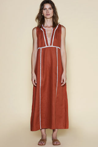 Sancia Miribel Dress Rust
