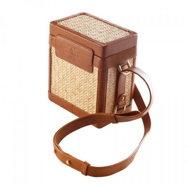Sancia L'echelle Rattan Cross Body Bag Tan
