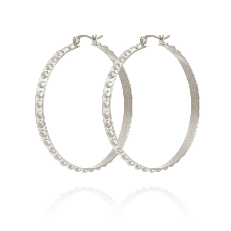 Temple Of The Sun Marni Hoop Earrings Silver