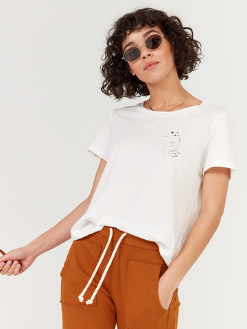 Mate The Label Classic Crew Women Carry the World True White