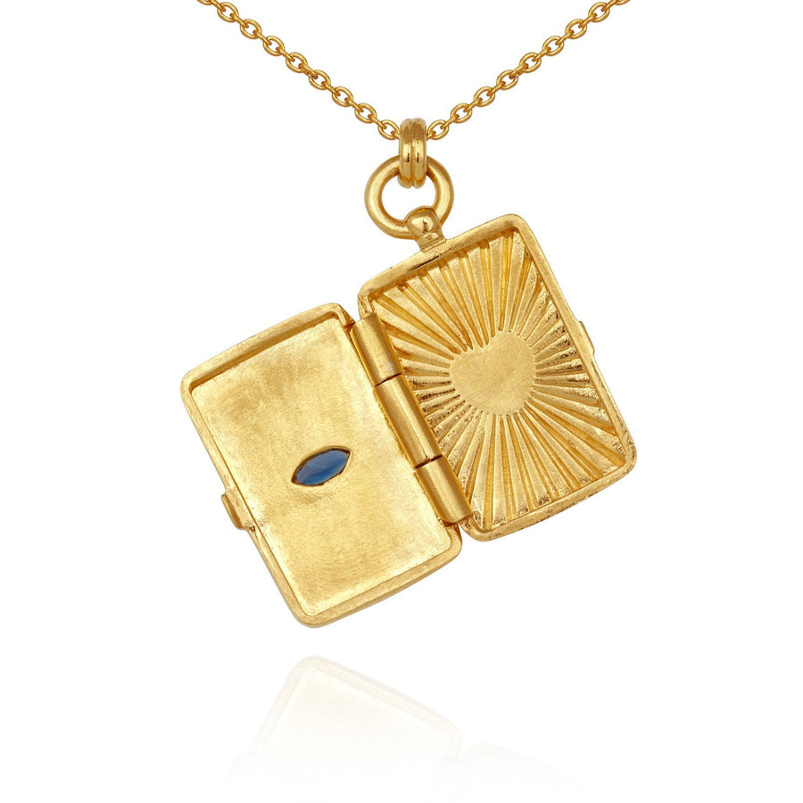 Temple Of The Sun Meri Locket Necklace Gold