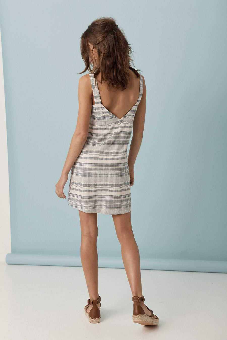 Saint Helena Mademoiselle Summer Dress Blue Gingham