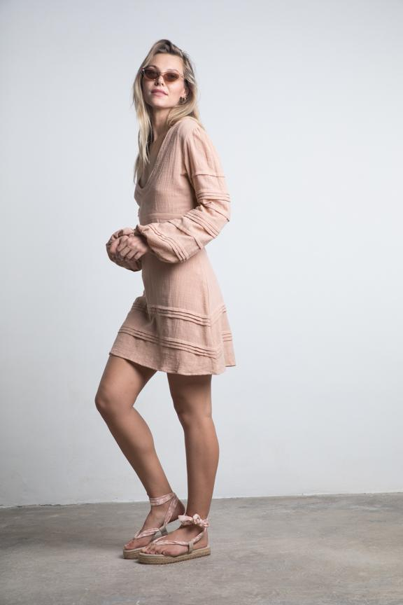 Lilya Mesa Mini Dress Sandalwood