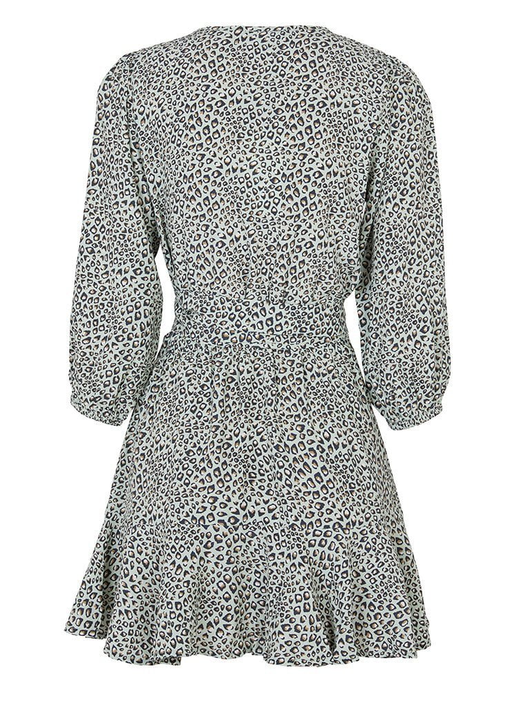 Kivari Baby Leopard Mini Wrap Dress