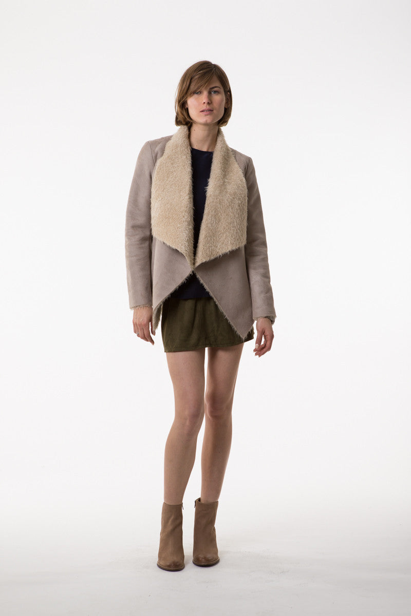 Lilya Neve Shearling Jacket Sand - Call Me The Breeze