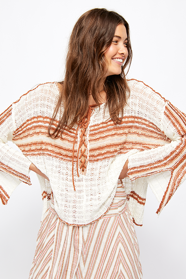 Free People Marina Bay Sweater Neutral Combo