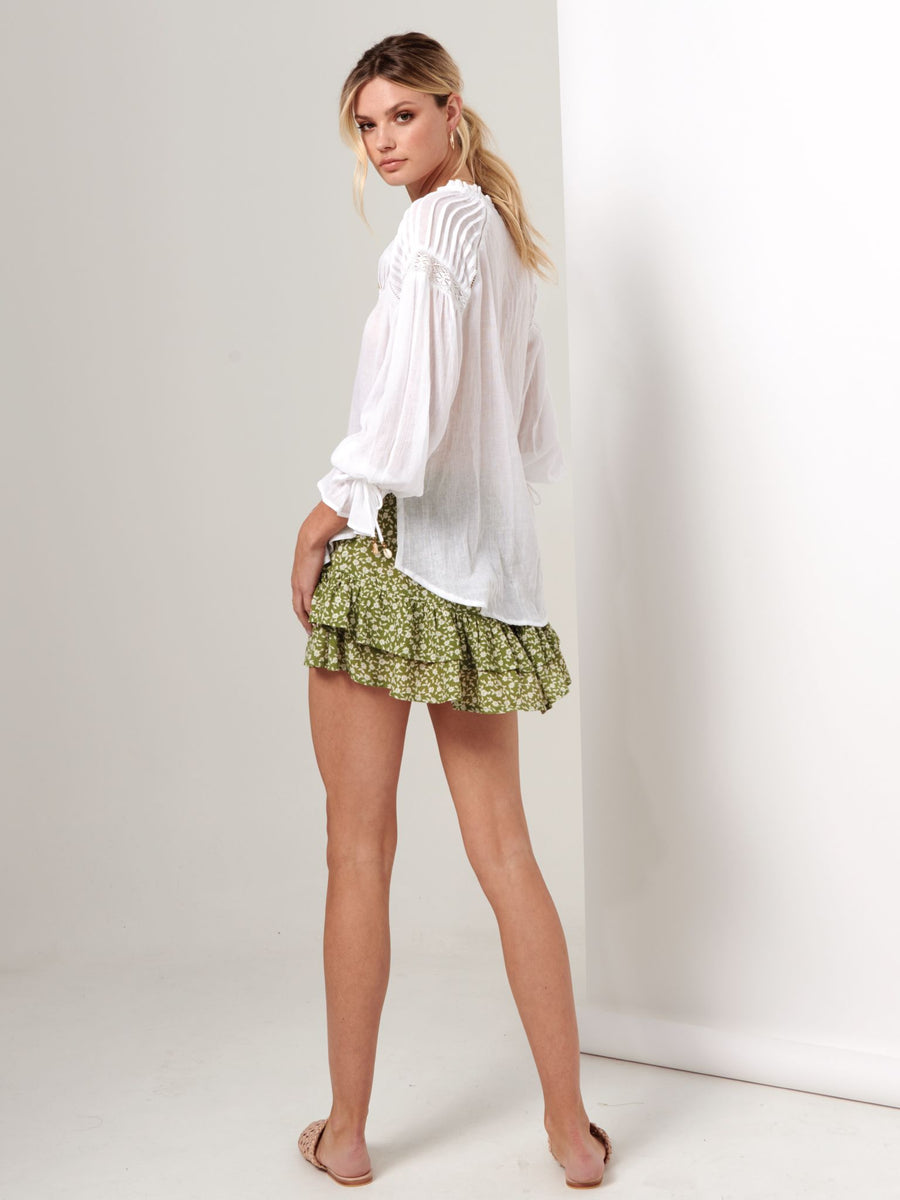 Kivari Lenni White Button Front Blouse