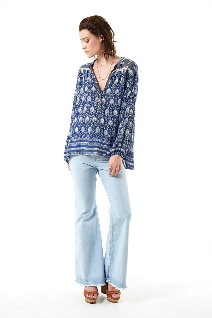 Spell Oracle Blouse Indigo - Call Me The Breeze - 4