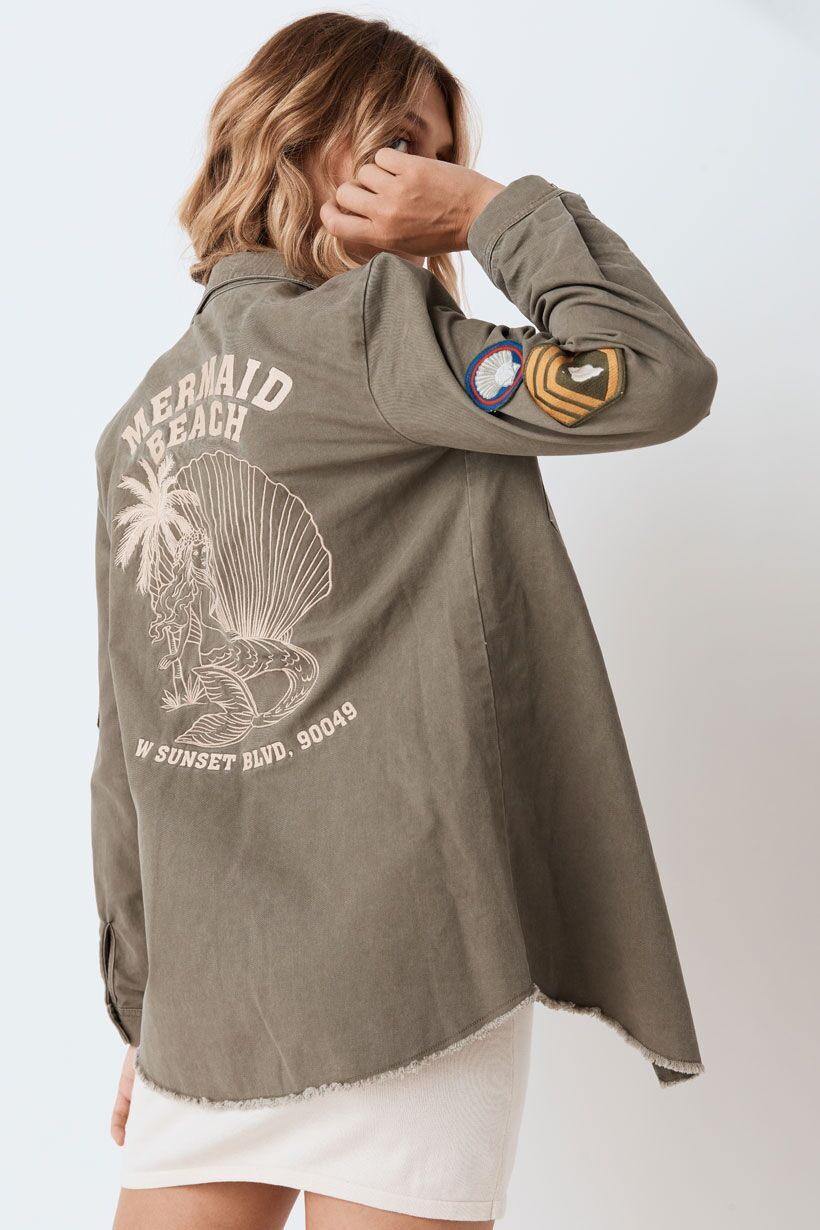 Spell Mermaid Twill Jacket Khaki