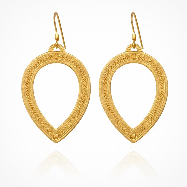 Temple Of The Sun Padma Earrings Gold