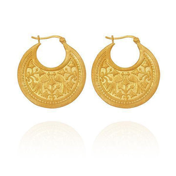 Temple Of The Sun Peacock Earring Gold