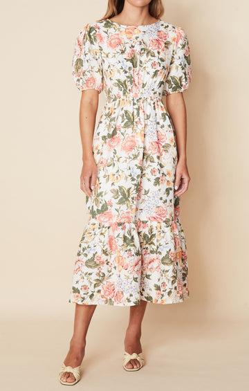 Faithfull Il Riso Midi Dress Terao Floral Print