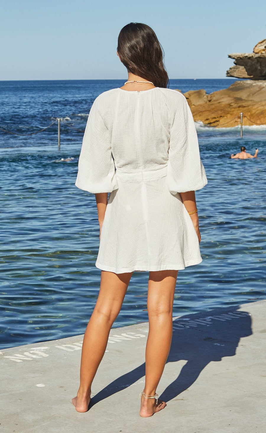 Bec and Bridge Haku Mini Dress Ivory