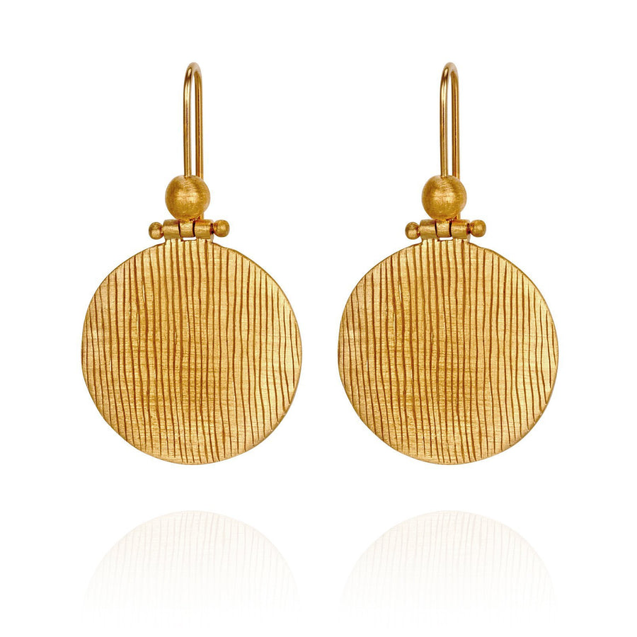 Temple Of The Sun Rei Earring Gold