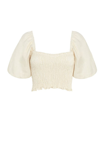 Faithfull The Brand Robina Top Plain Creme