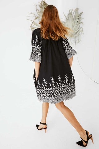 Ulla Johnson Roza Floral Embroidered Dress Coal - Call Me The Breeze - 1
