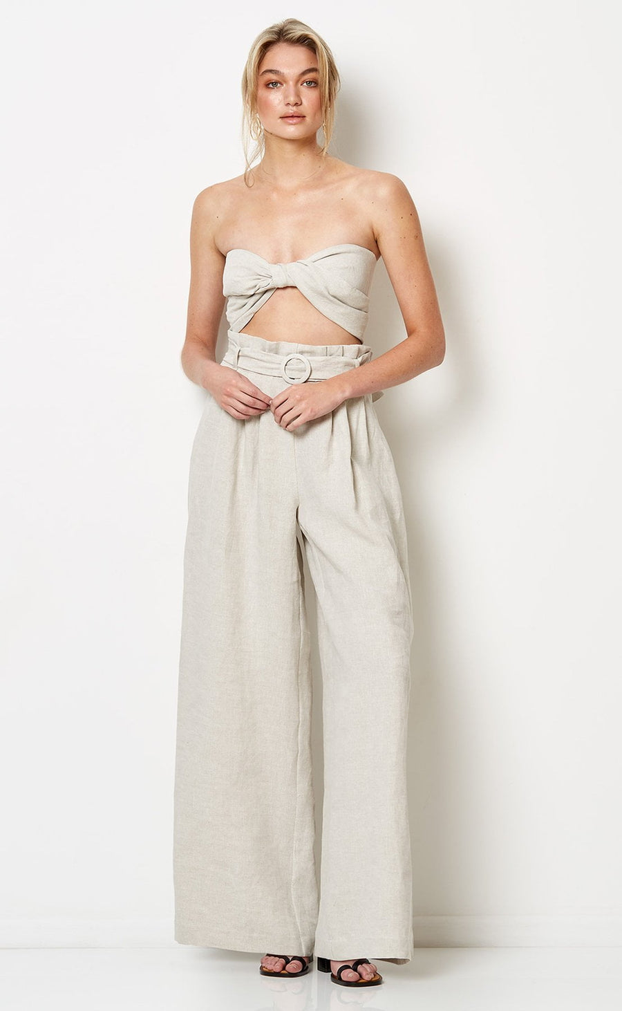 Bec and Bridge Silver Palms Pants