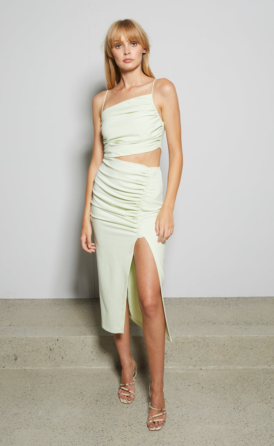 Bec and Bridge Sofie Midi Dress Avocado