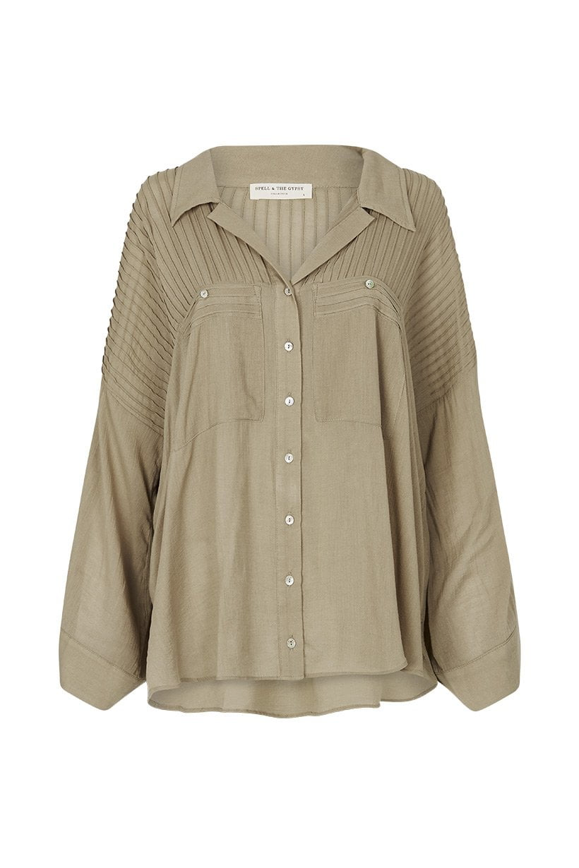 Spell Linda Blouse Taupe