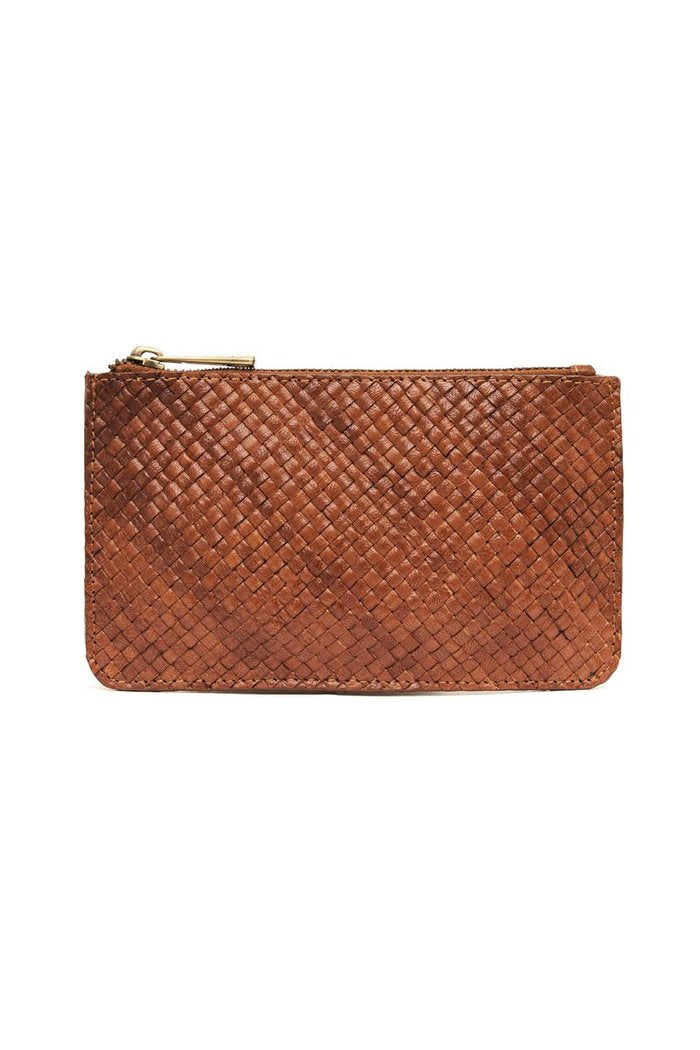 St Agni Louis Zip Pouch Antique Tan