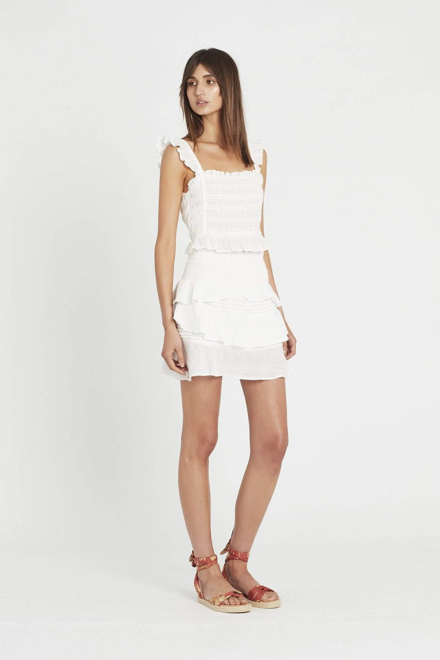 Sir The Label Aurelie Rouched Mini Skirt
