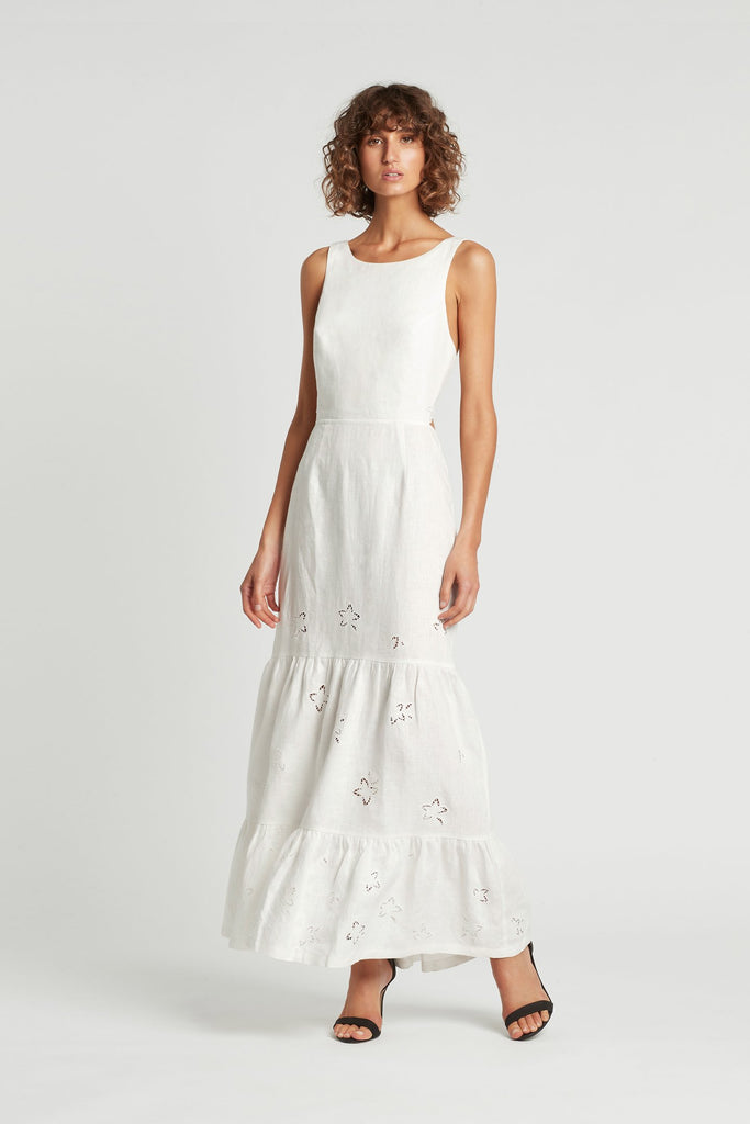 Sir The Label Alena Tiered Maxi Dress