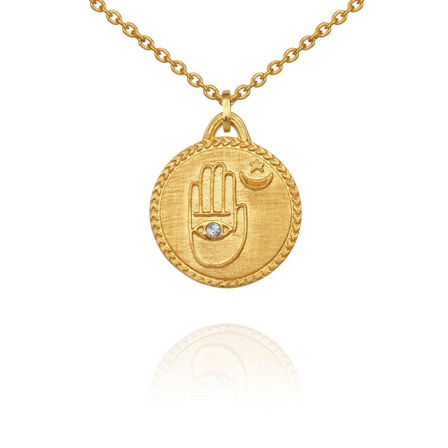 Temple Of The Sun Safiya Necklace Gold