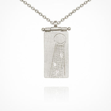 Temple Of The Sun Seren Necklace Silver