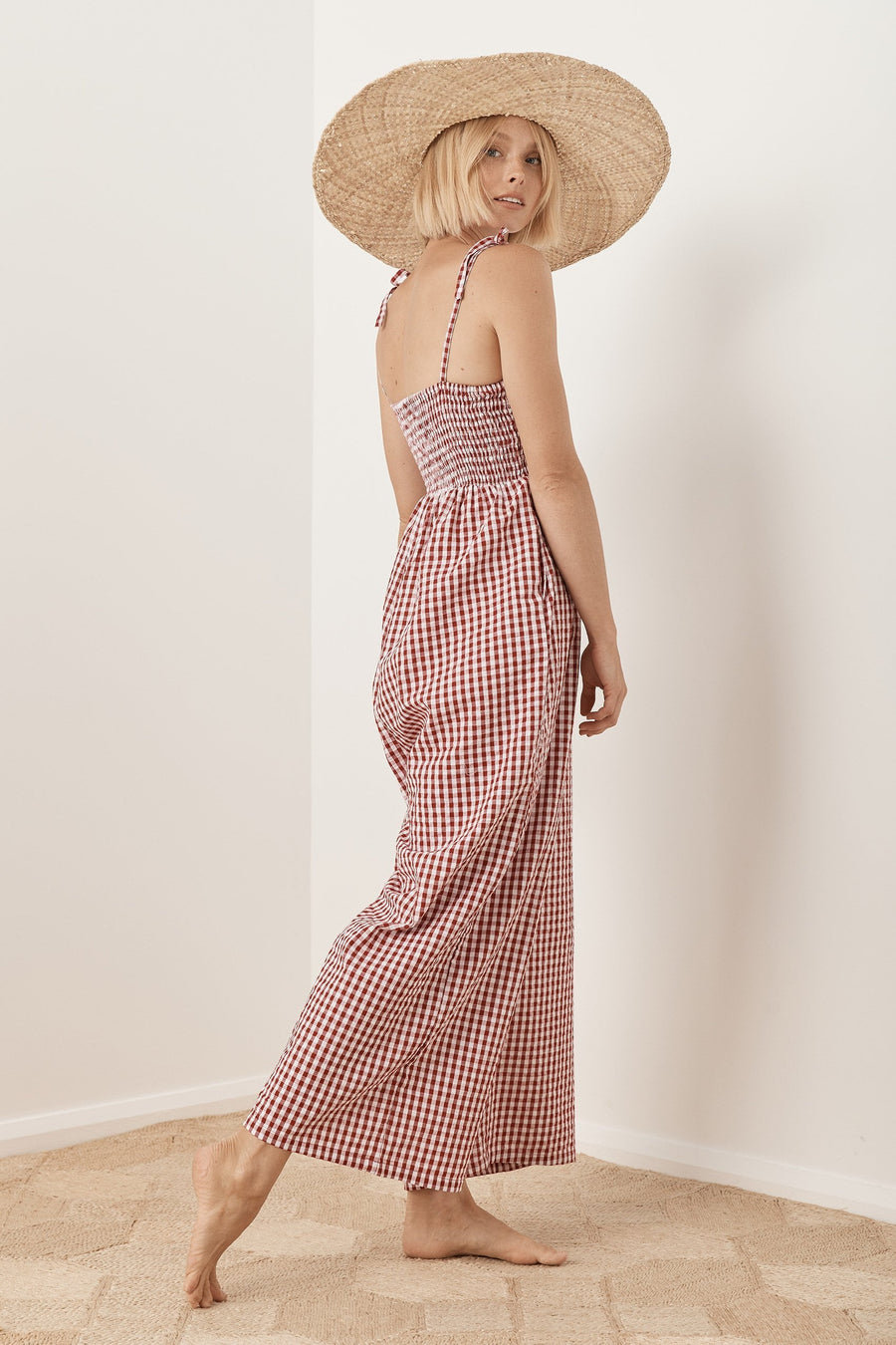 Saint Helena Freya Jumpsuit Red Gingham