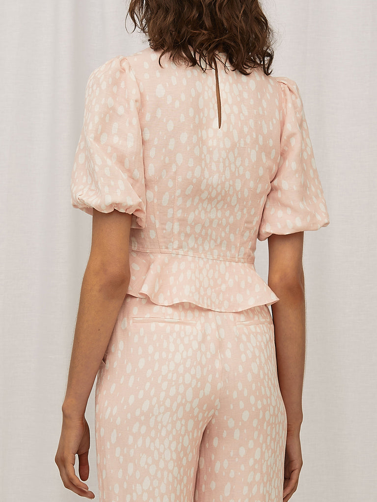 Steele Mimi Blouse Blush Spot
