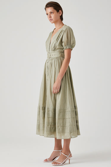 Steele Carmen Dress Pistachio
