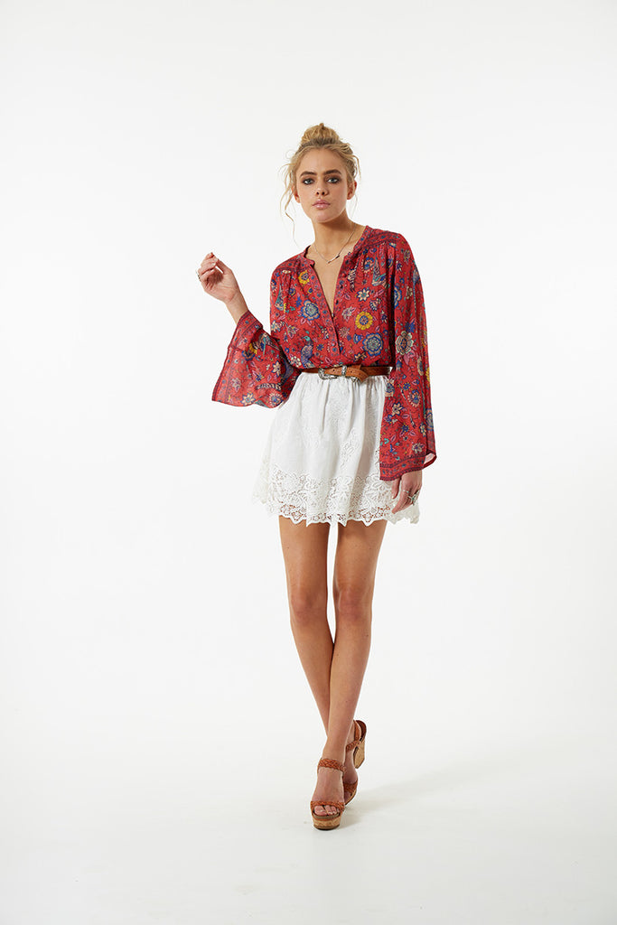 Spell Lovebird Blouse Rose - Call Me The Breeze - 9