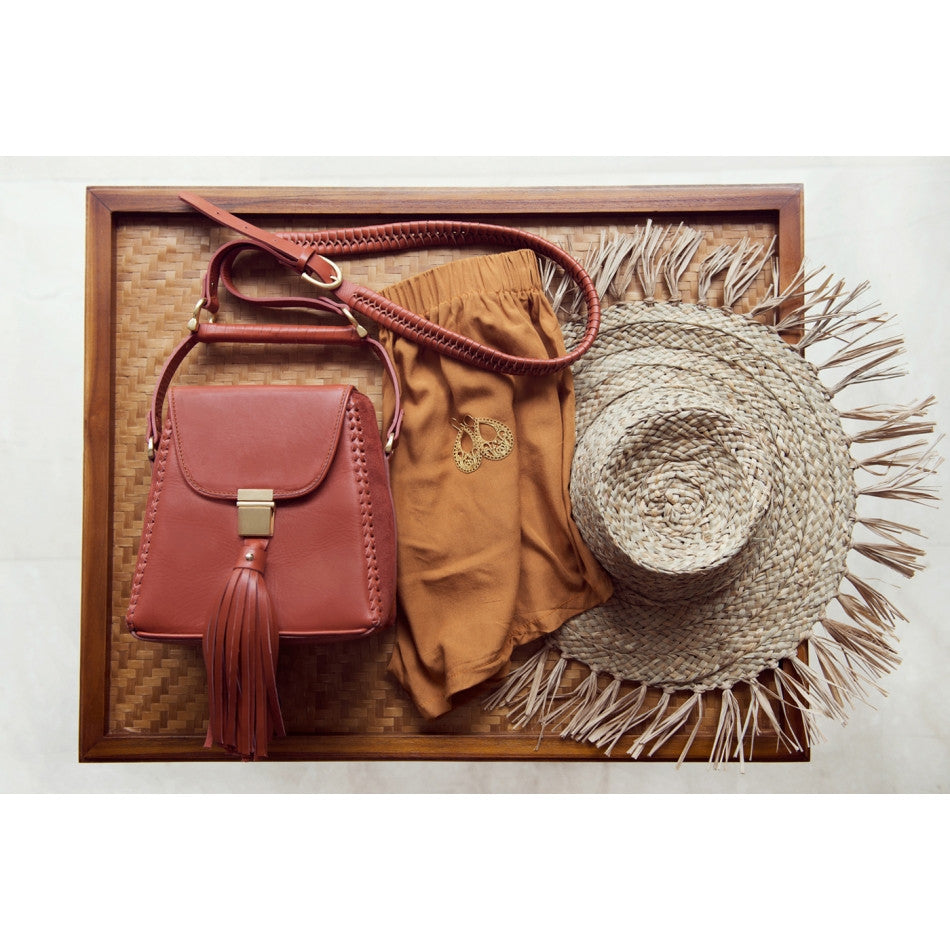 Sancia Mini Milla Jet Set Bag Terracotta - Call Me The Breeze - 2