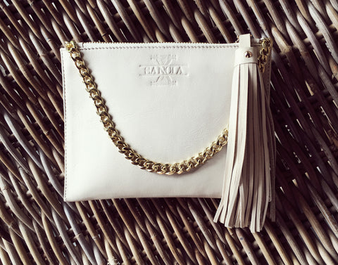 Sancia The Mia Clutch W Chain Ecru // PREORDER - Call Me The Breeze - 1