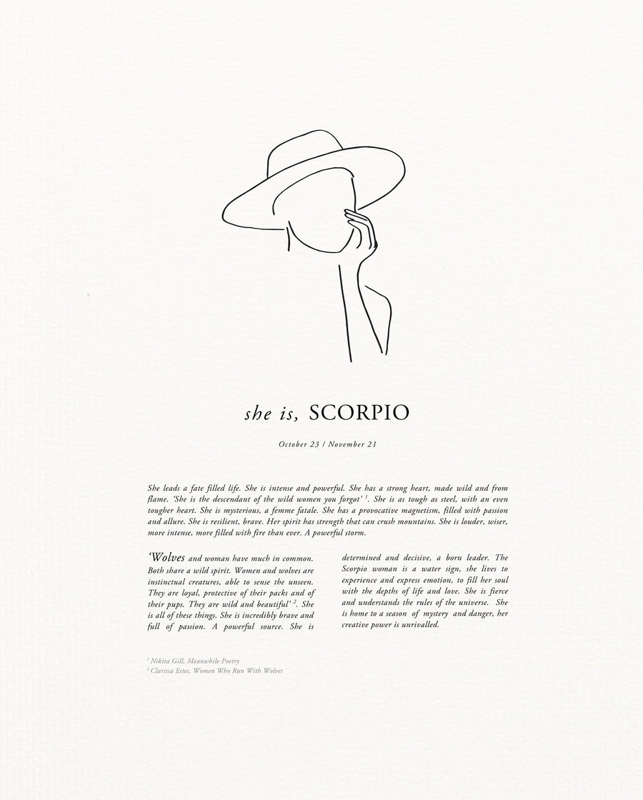 Sunday Lane Scorpio Print