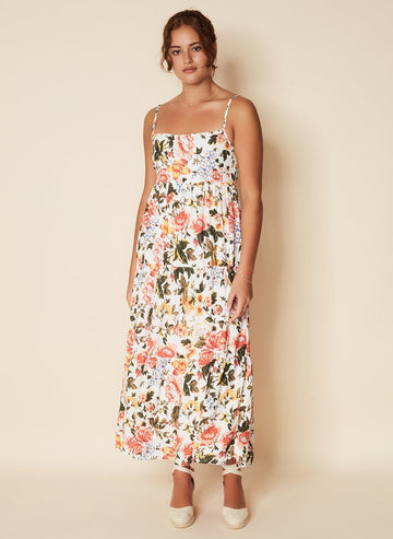 Faithfull Corvina Midi Dress Terao Floral Print