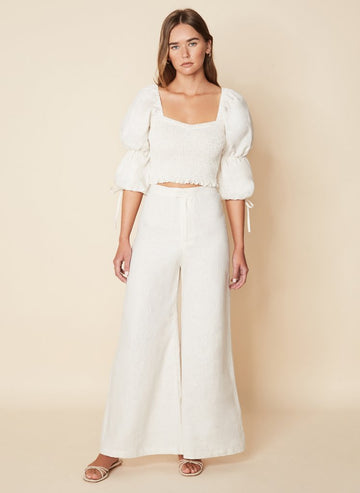 Faithfull Duda Pants Plain Coconut