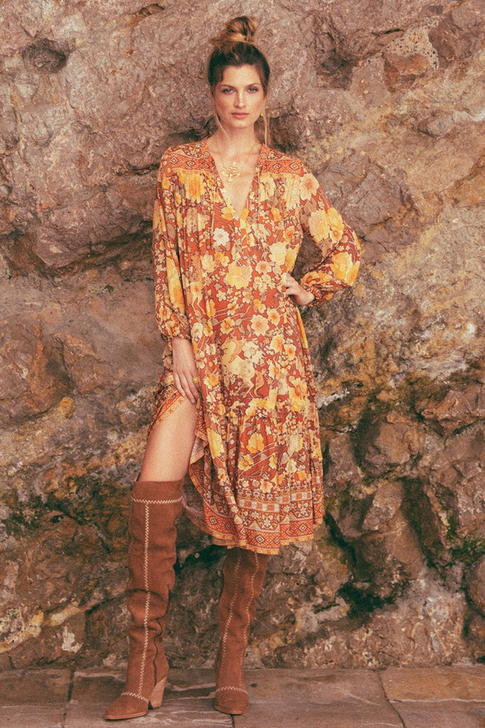 Spell Amethyst Boho Dress Amber